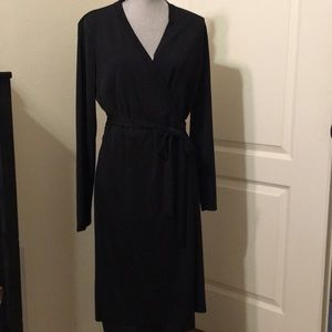 Black Wrap Dress by Limited Large Tall